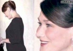 A Carla Bruni 'scende' la pancia ma crescono gli zigomi...